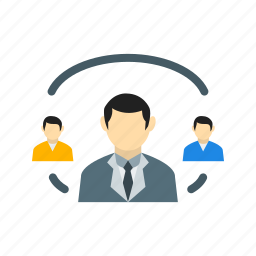 business, communication, connection, globe, network, people, web icon