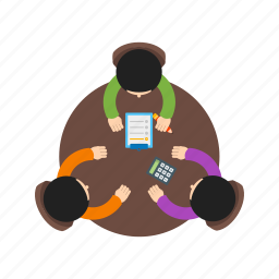 business, meeting, office, peoples, teamwork, trust, working icon