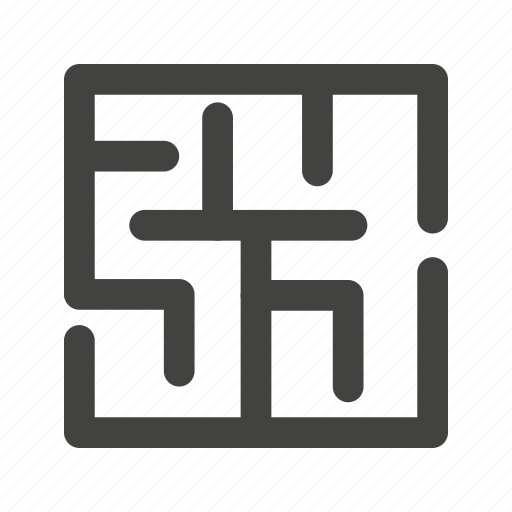 business, direction, idea, maze, mystery, puzzle, shape icon