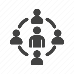 advertising, business, marketing, people, success, target, user icon