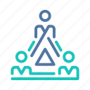 company, hierarchy, managing, network, organization, team, teamwork icon