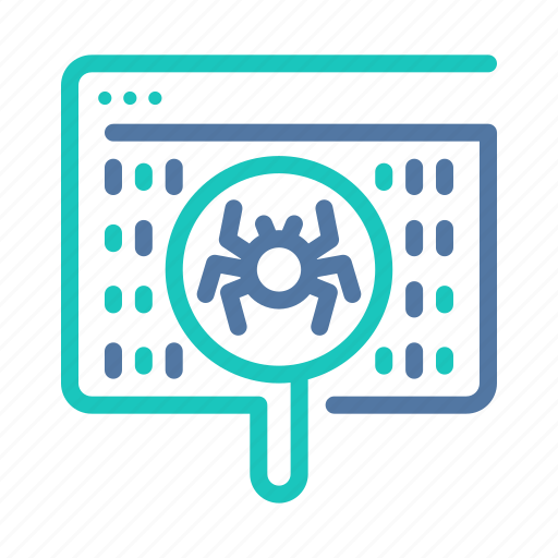 bug, cleaner, crawler, detection, malware, search, software icon