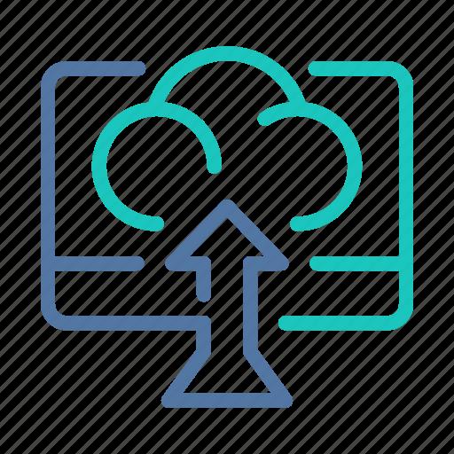 backup, cloud, data, server, transfer, upload, uploading icon