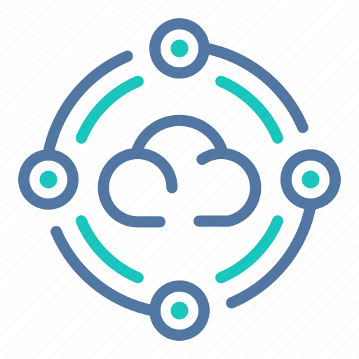 cloud, computing, data, network, processing, server, system icon