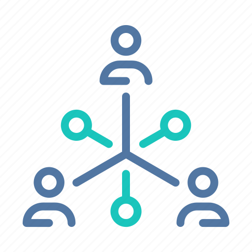 business, company, connections, organization, relations, structure, team icon