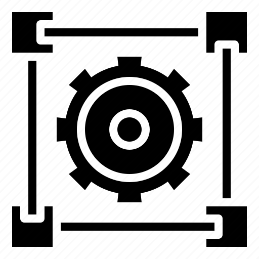 business, finance, gear, graphic, statistics icon