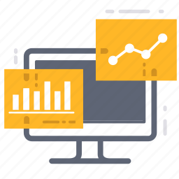 analysis, analytic, business, chart, computer, data, statistic icon