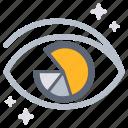 analysis, analyst, analyze, business, consider, eye, analytics icon