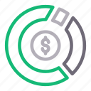chart, dollar, graph, money, progress