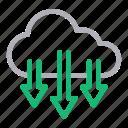 cloud, data, download, save, storage