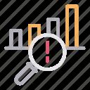 alert, chart, error, graph, warning icon