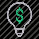 bulb, creative, dollar, idea, innovation