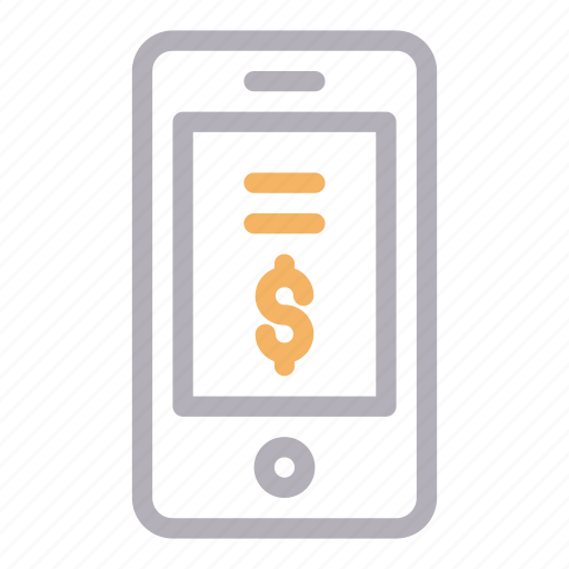 Dollar, mobile, online, pay, phone icon - Download on Iconfinder