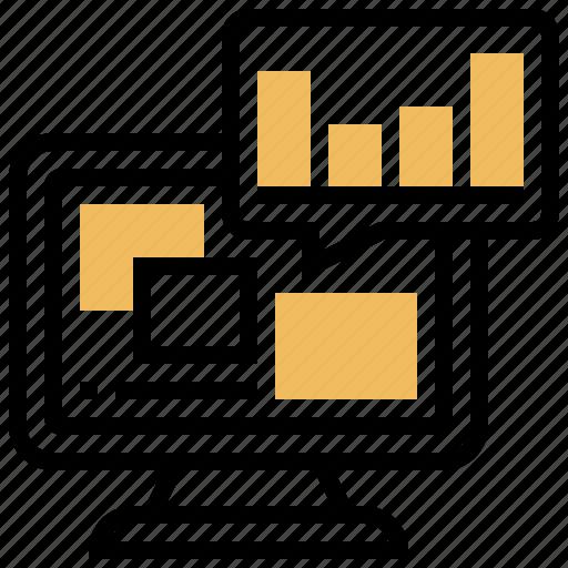 analyze, computer, data, processing, resolve icon