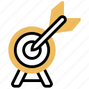 achievement, arrow, business, goal, target icon