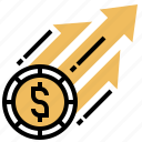 business, growth, income, price, revenue icon