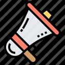 advertising, amplifier, announcement, megaphone, promotion icon