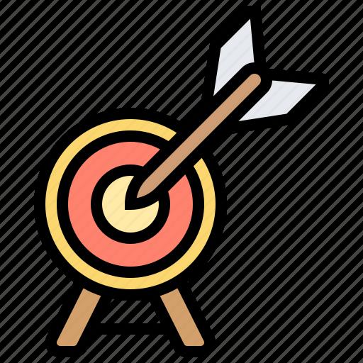 achievement, arrow, business, goal, target icon