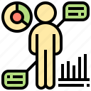 analytic, employment, human, monitoring, resource icon
