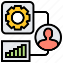 management, principles, setting, system, theory icon
