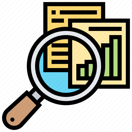examination, inspection, magnifying, research, result icon