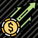 business, growth, income, price, revenue icon
