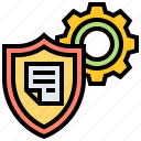 confidential, defense, protection, security, shield icon