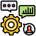 cogwheel, educate, expertise, professional, skills icon