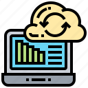 business, cloud, data, internet, synchronize icon