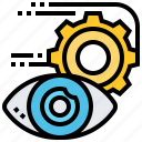eye, foresight, perspective, view, vision icon