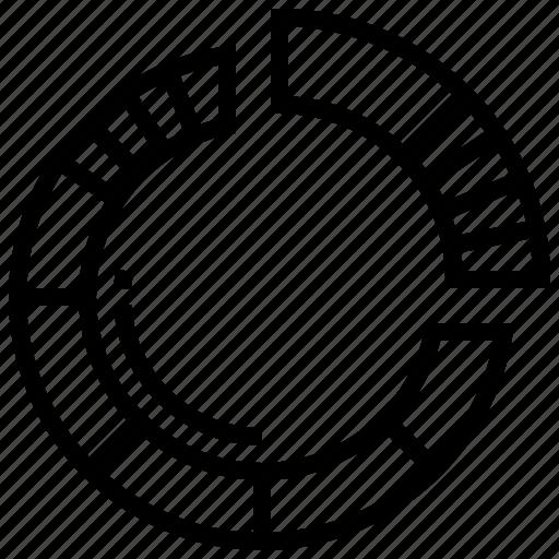 chart, circle, data, infographic, pie icon