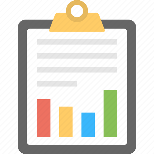 business productivity report, financial performance, financial report, graph analysis, statistic report icon