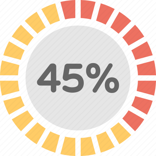 Loading Circle Measuring Scale Percent Pie Chart Percentage Graph