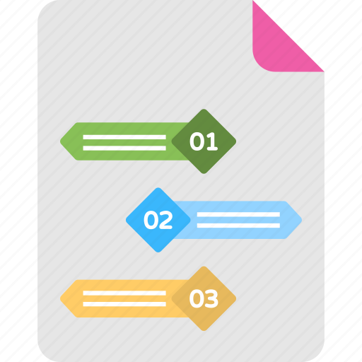 Bullet text information, business presentation, project planning, timeline infographic, workflow diagram icon - Download on Iconfinder
