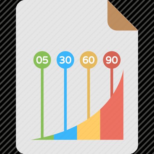 big data analysis, business analytics, business infographics, graphical report, progress analysis icon