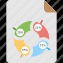 data analysis, financial management, market analysis, pie chart graphical presentation, statistics icon