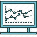 analytics, business, chart, finance, graph, indicator, statistics icon