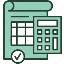accounting, budget, business, calculator, finance, mathematics, taxes icon