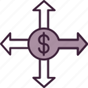 business, choice, decision, direction, finance, money, opportunity icon