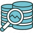 analysis, data, examine, finance, magnifier, money, research icon