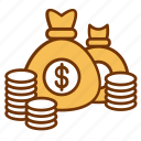 bag, business, cash, donation, finance, investment, money icon