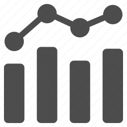 business analytics, charts, diagram, sale report, statistics, trend icon