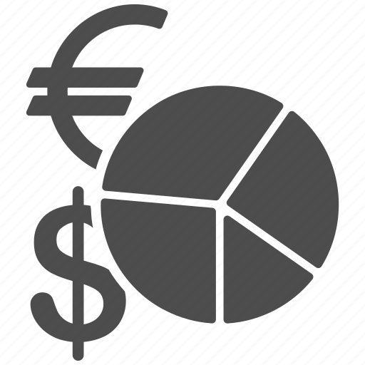 currency, graph, market, pie chart, report, sales, statistics icon