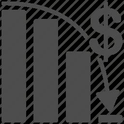 bar chart, business, epic fail, failed, failure, graph, report icon