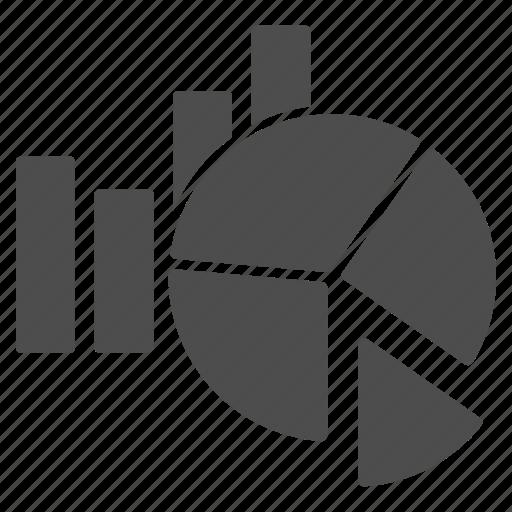 analysis, bar chart, charts, graph, pie chart, report, statistics icon