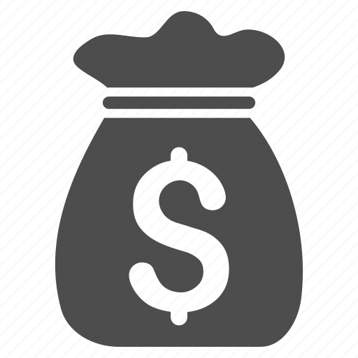capital, cash, earnings, invest, investment, money bag, profit icon