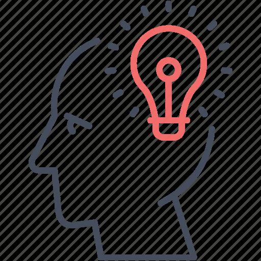 blub, business, creative, head, idea, man, mind icon