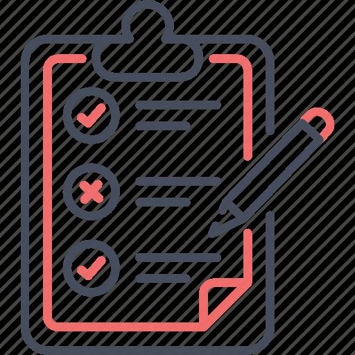 board, business, checklist, list, pencil, plan, to-do icon