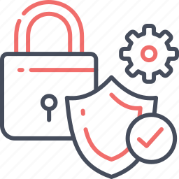 business, lock, safe, secure, security, setting, shield icon