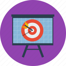business, chart, finance, marketing, plan, target icon